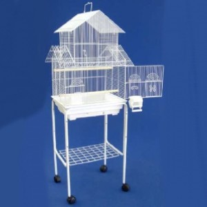 Mcage New Large Bird Cage with Stand  - Best Bird Cage for Finches: Is this a Barbie house?