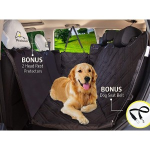 Meadowlark Dog Seat Covers Unique Design & Full Car Protection - Best Dog Car Seat Covers: Adjustable Middle Zipper Car Seat Cover