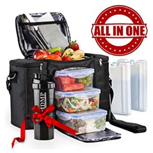 My Daily Meal Plan Meal Prep Lunch Bag/Box - Best Food Storage Container: All-in-one meal prep kit