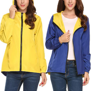 Meaneor Hooded Rain Coats - Best Raincoats for Hot Weather: The switchback-style rain jacket