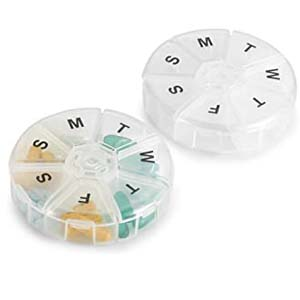 MEDca Large Round Travel Medication Reminder - Best Pill Dispensers for Seniors: Enjoy the trip without forgetting to take medicine