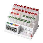 10 Reviews: Best Pill Boxes with Alarm (Oct  2020): Monthly Medication Organizer with Four Box Each Day