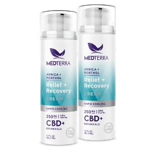 MEDTERRA RELIEF + RECOVERY CREAM - Best CBD Cream for Itching: 3 Different CBD Potencies