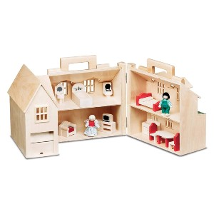 Melissa & Doug Fold & Go Dollhouse - Best Educational Toys for 5 Year Olds: Lovely dollhouse