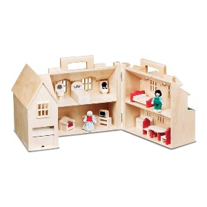 Melissa & Doug Fold & Go Dollhouse - Best Wooden Toys for Toddlers: A complete package