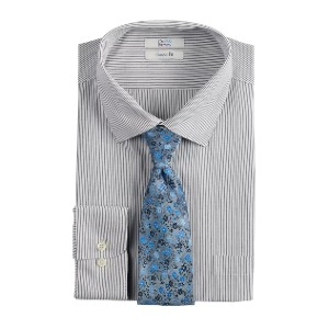 Croft & Barrow Classic-Fit Spread-Collar Dress Shirt & Tie Set - Best Ties for Striped Shirts: Take the guesswork away
