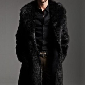 Almas Collections Men's Faux Fur Coat AW1 - Best Coats for Men: Soft and Very Comfortable to Wear