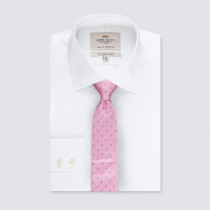 Hawes & Curtis Men's Light Pink & Blue Even Spot Tie - Best Ties for Light Grey Suit: Wear it with pride