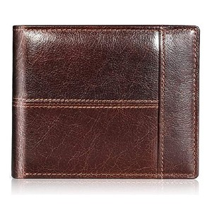 Swallowmall Genuine Leather Bifold Wallets for Men - Best Wallet for Lots of Cards: Best for dad