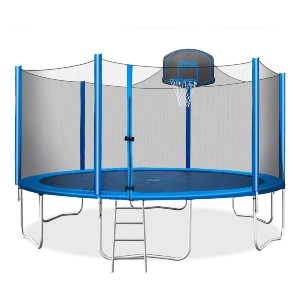 Merax 15 FT Trampoline with Safety Enclosure Net - Best Trampoline for Kids and Adults: Convenient maneuverability with ladder