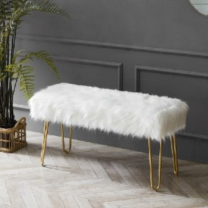 Mercer41 Neligh Bench - Best Entryway Benches: Glamour and Elegant Bench