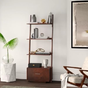 Mercury Row® Carlucci Ladder Bookcase - Best Bookcases for Small Spaces: Decorative Bookcase