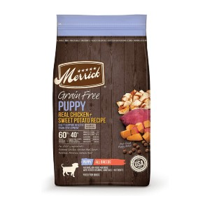 Merrick Grain Free Dry Puppy Food Real Chicken & Sweet Potato Recipe - Best Dog Foods Made in USA: Food for Optimal Health