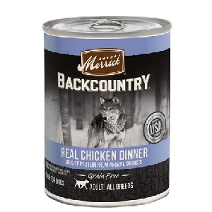 Merrick Backcountry Grain Free Wet Dog Food 96% Real Chicken Recipe - Best Food for Hyperthyroid Cat: Real Deboned Chicken for Single Source of Protein