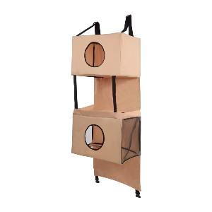 MiMu Door Hanging Cat Tower - Best Cat Tree for Small Spaces: No-Permanent Wall-Mounted Cat Tree