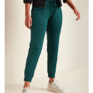 Old Navy Mid-Rise Sweater-Knit Jogger Pants - Best Cheap Sweatpants Women: Single Snap-Pocket at Back