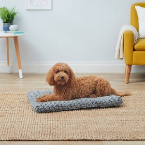 Midwest Quiet Time Ombre Swirl Dog Crate Mat - Best Dog Beds for Puppies: Ultra-Soft Synthetic Fur Cover