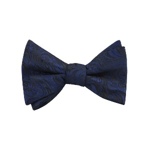 OTAA Midnight Blue Khamsin Self Bow Tie - Best Ties for Blue Suit: A luxurious touch