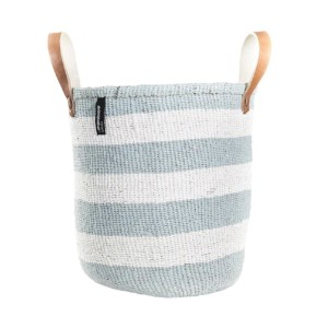 Mifuko Kiondo basket with handles M - Best Storage Baskets: Chic Basket with Short Leather Handles