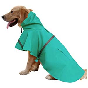 Mikayoo Adjustable Pet Waterproof Clothes - Best Raincoats for Big Dogs: High visibility