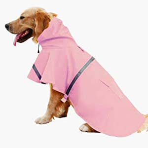 Mikayoo Large Dog Raincoat Clothes - Best Raincoats for Big Dogs: High visibility
