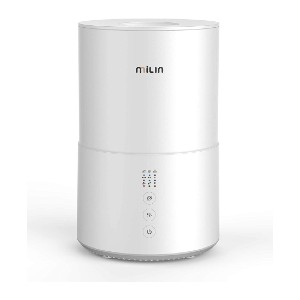 Milin Germ Free Cool Mist Humidifier with Air Sterilization - Best Humidifier for Dry Nose: One-touch sterilization humidifier