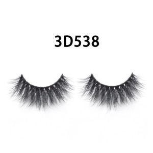 Gamay Hair Mink Lashes 3D Mink Eyelashes 3D-538 - Best Lashes for Hooded Eyes: Bushy and Soft Eyelashes