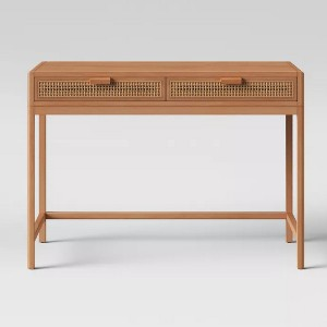 Opalhouse Minsmere Writing Desk with Drawers Brown - Best Minimalist Work Desk: Easy to assemble