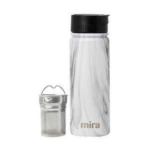 Mira Stainless Steel Tea Infuser Travel Mug - Best Travel Mugs for Tea: Includes two strainers