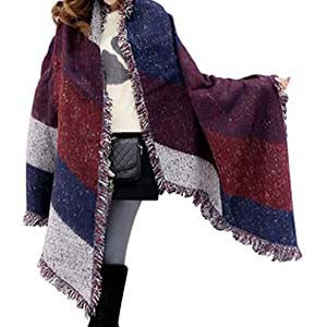 Miss Lulu Warm Ladies Scarf Winter - Best Scarves for Winter: Blanket and scarf in one