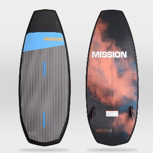 Mission SURF-STYLE BOARD - Best Wakesurf Boards for Beginners: Wakesurf with Two Fins Set Up