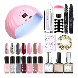 Modelones Gel Nail Polish Kit with 48W Led Nail Dryer Lamp - Best Gel Nail Kit with UV Light on Amazon: Nail Kit for Art Creations