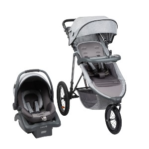 Monbebe Rebel II - Best Stroller Jogger Travel Systems: Adjustable Handle with Faux Leather Grips