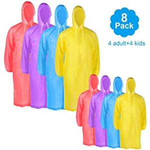 Morepack Disposable Rain Poncho Cover - Best Raincoats for Disney: Exceptionally well-made