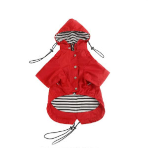 Morezi Dog Raincoat with Reflective and Rain or Water Resistant - Best Raincoats for Dogs: Raincoat with Buttoned Pockets