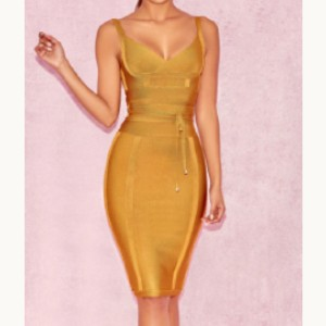 Talin Boutique Morgana Dress - Best Dress for Hourglass Shape: Flattering Low V Cross-Over Neckline