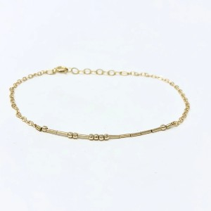 Jenny and Jude Morse Code Custom Bracelet - Best Jewelry Gifts for Valentine's Day: Best for secret meaning