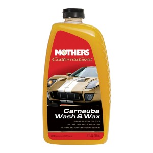 Mothers California Gold Carnauba Wash & Wax - Best Liquid Wax for Cars: Easily Dissolves and Removes Stubborn Road Grime