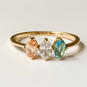 Miela Jewelry Birthstone Ring for Mom - Best Jewelry for Mother's Day: Up to eight birthstones