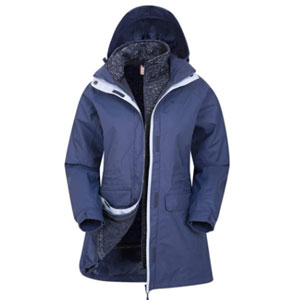 Mountain Warehouse Waterproof Rain Jacket - Best Raincoats for Cold Weather: IsoDry fabric material