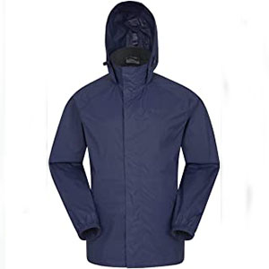 Mountain Warehouse Pakka Mens Waterproof Rain Jacket - Best Raincoats for Work: The taped seams raincoat