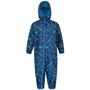 Mountain Warehouse Warehouse Puddle Kids Printed Rain Suit - Best Raincoats for Toddlers: Easy to tak in and off