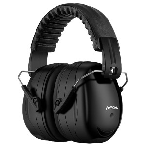 Mpow 035 Ear Muffs Noise Reduction - Best Shooting Hearing Protection: Adjustable Pin and Foldable Headband