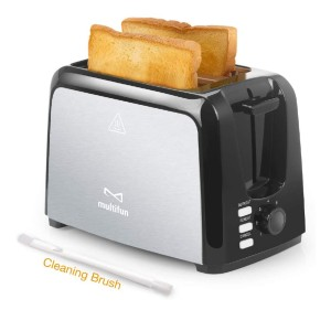 Multifun Stainless Steel Toaster with Warm Rack - Best Toaster Two Slices: Easy Clean Up Toaster