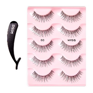 KISS Multipack - 03 - Best Lashes for Monolids: Made of 100% Human Hair