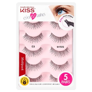 KISS Ever Ez Lash Multipack - 03 - Best Lashes for Beginners: Easy Angle Lash Applicator