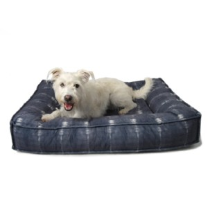Muttropolis Bali Microvelvet Divine Futon Dog Bed - Best Dog Beds for Older Dogs: Bed with Bolsters