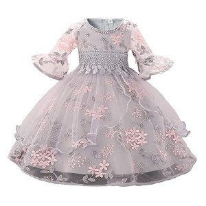 Myosotis510 Girls' Lace Princess Wedding Dress - Best Party Wear Dress for Baby Girl: You must be a real princess..