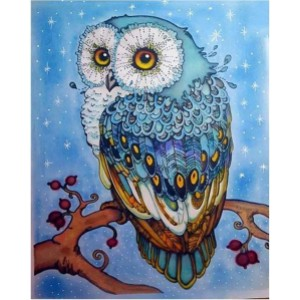 My Paint by Numbers Mystic Blue Owl - Best Paint by Number Kits for Adults: For Nocturnal Creature