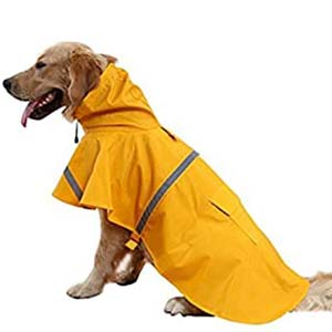 NACOCO Large Dog Raincoat - Best Raincoats for Big Dogs: Cute with vibrant color